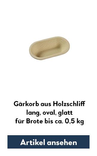 Holzsschliff-Gärkorb (Simperl) glatt, lang, oval für 500g Teig