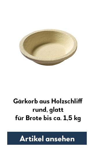 Holzsschliff-Gärkorb (Simperl) glatt, rund für 1500g Teig