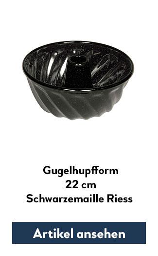 Napfkuchenform, Gugelhupfform aus Emaille 22cm Durchmesser
