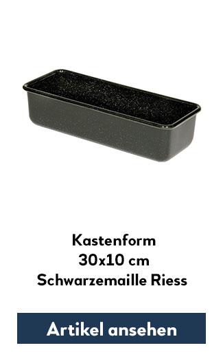 Kastenform 30x10cm Riess Emaille schwarz
