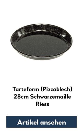 Pizzablech 28cm Riess Emaille schwarz