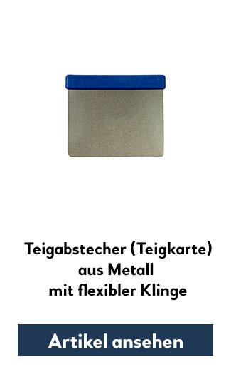 Metall-Teigkarte mit flexibler Klinge
