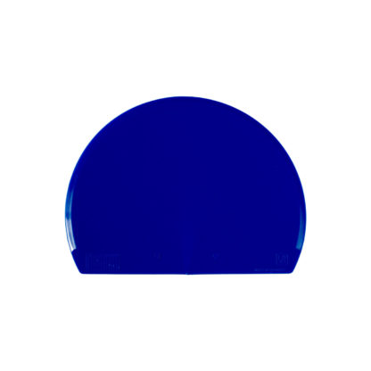 Halbrunde Teigkarte aus blauem Kunststoff
