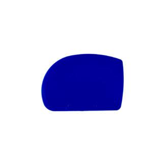 Halb-ovale Teigkarte aus blauem Kunststoff
